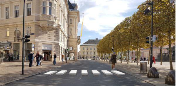 So könnte der 3-D Zebrastreifen schon bald in Klagenfurt aussehen.
