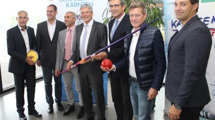 Politik und Leichtathletikverbände präsentierten gemeinsam die Ansiedlung des Bundesstützpunktes Leichtathletik