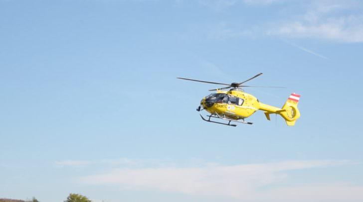 Mit dem Rettungshubschrauber wurde der Verletzte in das Klinikum Klagenfurt gebracht.