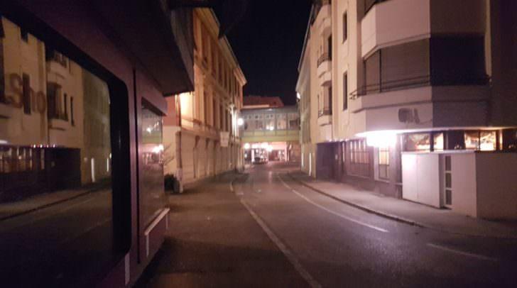 Diese Straße lief die Täterin entlang.