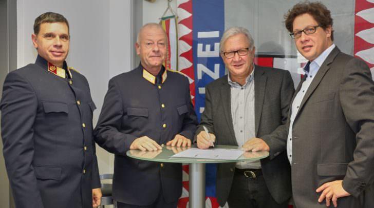 Obst Wolfgang Gabrutsch BA MBA MBA DBA, GenMjr Wolfgang Rauchegger BA, Maximilian Goritschnig, DI Manuel Goritschnig.