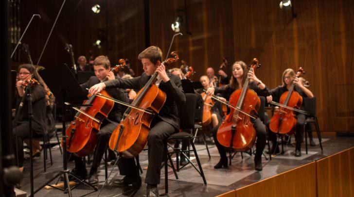 Cellisten des Orchester Oberkärnten