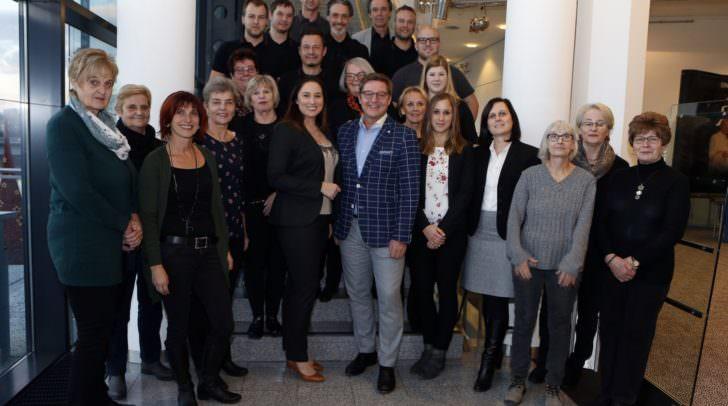 Bürgermeister Günther Albel lobte das engagierte Team des CCV.