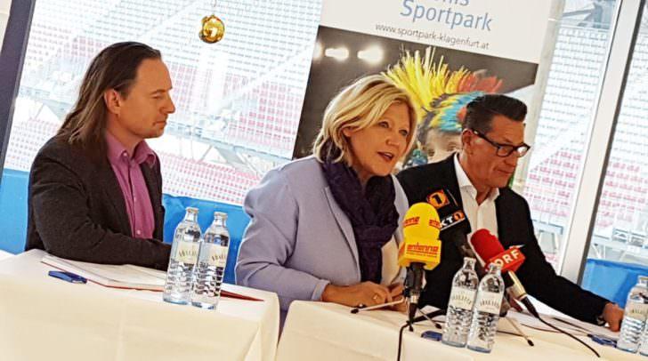 GF Gerd Unterköfer, BGM Marie Luise Matthiaschitz, GF Klaus Leutgeb