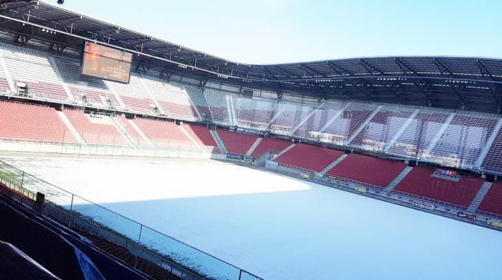 Winterliches Stadion