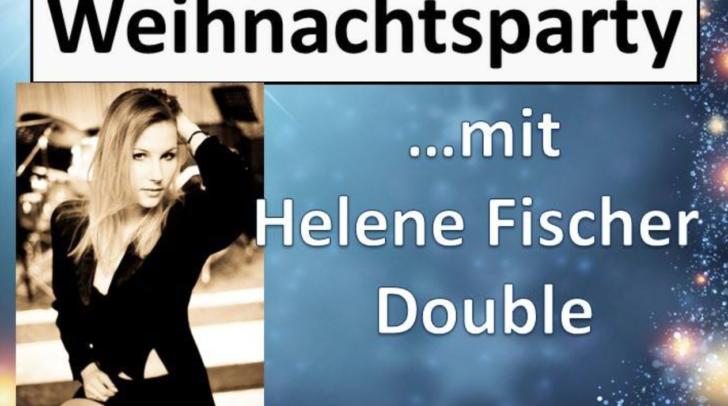 Bei der Weihnachtsparty beim Gurkerwirt begeistert Anika Bollmann als Helene Fischer Double