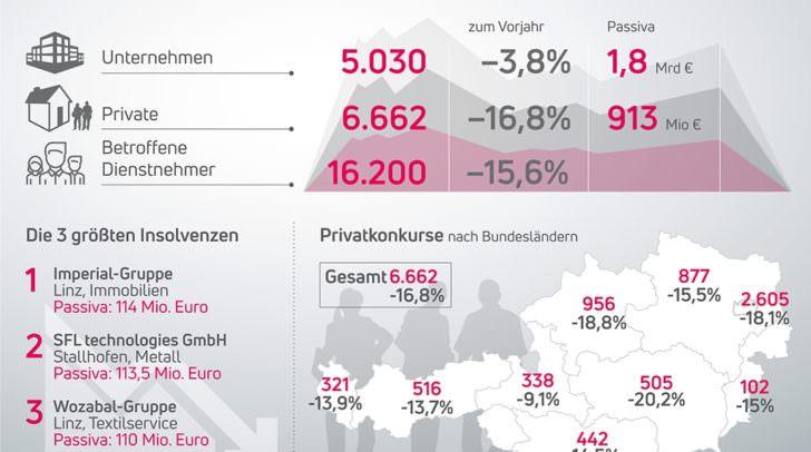 Insolvenzen in Österreich 2017