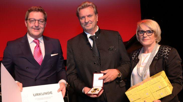 Bürgermeister Günther Albel, Karl Binder, Lt-Abg. Waltraud Rohrer