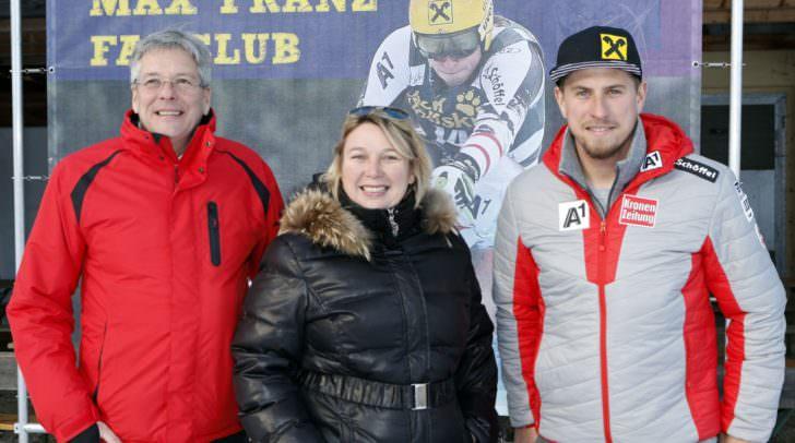 LH Peter Kaiser, StR. Christina Ball und Max Franz