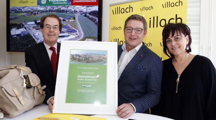 KR Hans Roth, Bürgermeister Günther Albel und Vizebürgermeisterin Dr. Petra Oberrauner