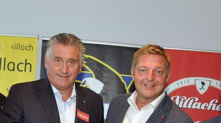 Guiseppe Mion mit Bürgermeister Albel