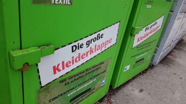 Ein Plus von 28 Tonnen an Alttextilien konnte im Jahr 2017 in den grünen Boxen gesammelt werden.