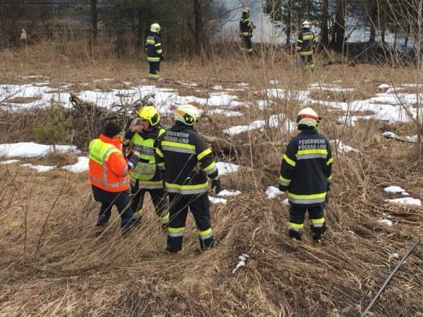 150 Meter Böschung brannten direkt neben der Rudolfsbahn.