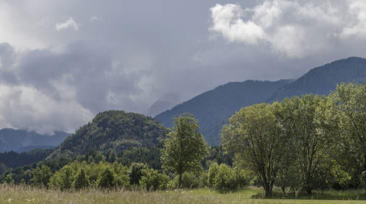 Blick von Altfinkenstein, Kärnten Kanzianiberg