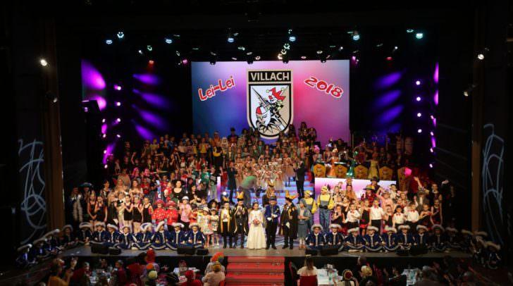 200 Akteure sorgten bei dem Villacher Kinderfasching für ein buntes und abwechslungsreiches Programm.