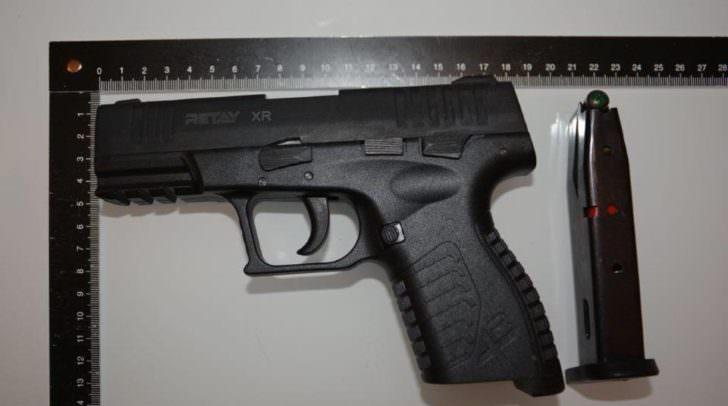 Die verwendete  Pistole