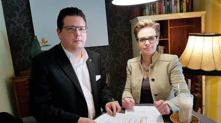 Stadtrat Christian Pober (ÖVP) und Stadträtin Katharina Spanring (ÖVP)