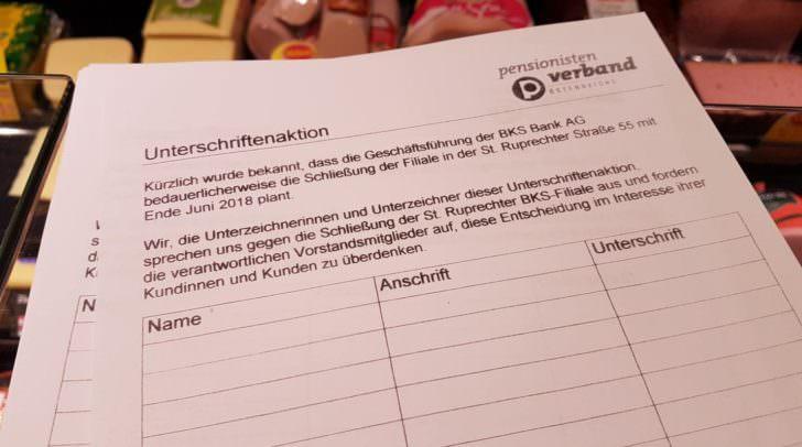 Eine Unterschriftenaktion