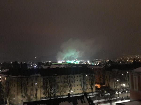 Weit über Villach war die Rauchwolke sichtbar.