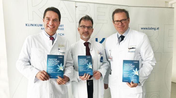 v.li: Prim. Univ.-Prof. Dr. Reinhard Mittermair, Prim. Dr. Wolfgang Raunik, Prim. Univ.-Prof. Dr. Wolfgang Eisterer