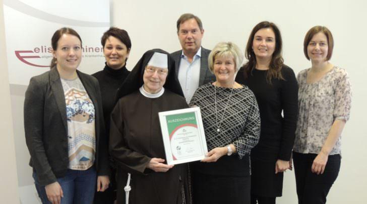 """Das Elisabethinen-Krankenhaus Klagenfurt wurde als """"Selbsthilfefreundliches Krankenhaus ausgezeichnet"""