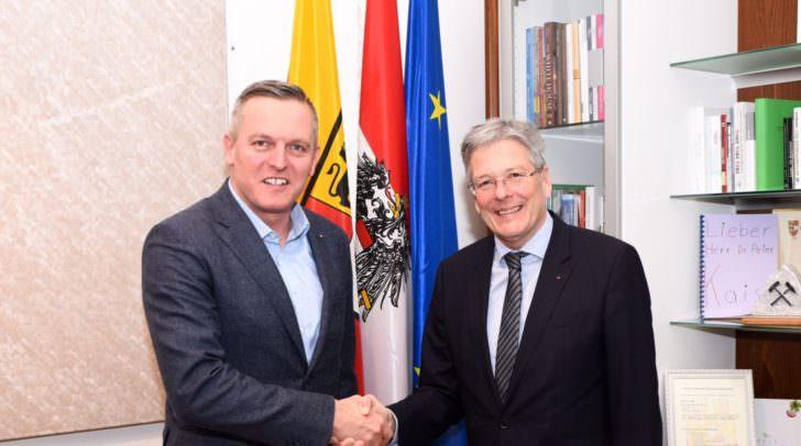 Antrittsbesuch von Verteidigungsminister Mario Kunasek bei Landeshauptmann Peter Kaiser
