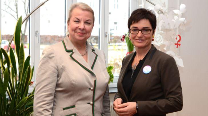 Bundesministerin Beate Hartinger-Klein bei LHStv.in Beate Prettner