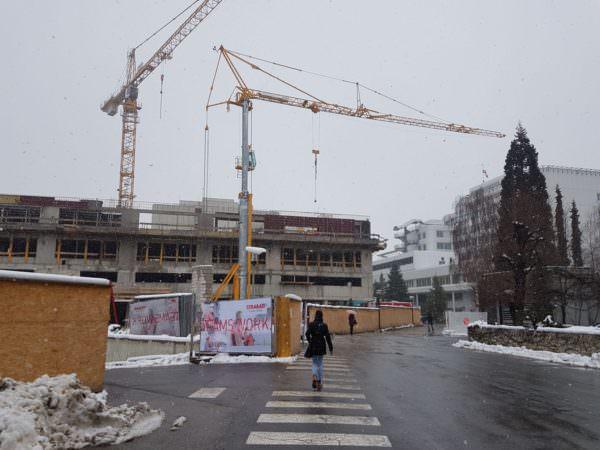 Baustelle am LKH Villach