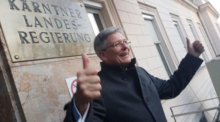 Landeshauptmann Peter Kaiser (SPÖ) freute sich über einen