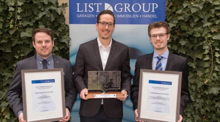 von links nach rechts: Die Jury des List Förderpreises hat nun drei junge Wissenschafter für ihre Arbeiten ausgezeichnet, und zwar Christian Truden, Mike Wengler und Thomas Bruckmüller.