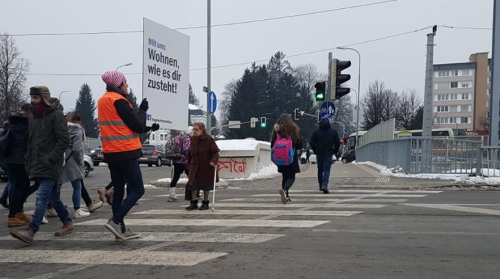 Heute Früh entdeckt: An der Kreuzung Tirolerstraße
