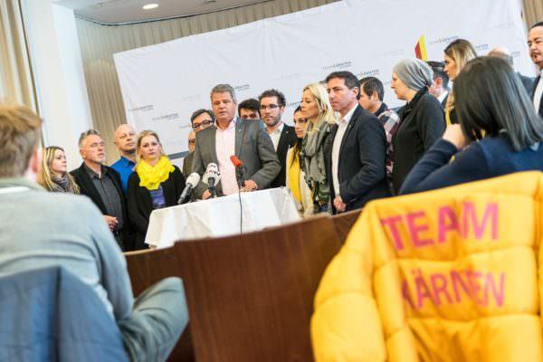 LR Köfer auf der Pressekonferenz.
