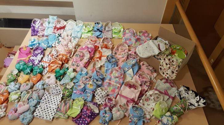 Die angefertigten Einschlagdecken werden an Kärntner Krankenhäuser übergeben.