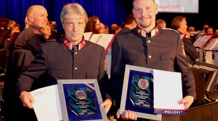 Die beiden Polizisten des Jahres 2017: Gruppeninspektor Michael Malle und Bezirksinspektor Herbert Moser