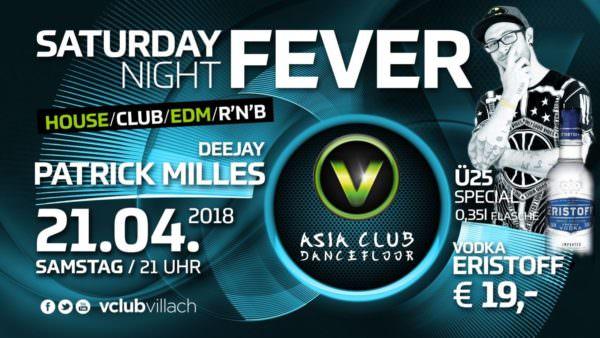 DJ Patrick Milles wird euch asm Samstag im V-Club Villach einheizen
