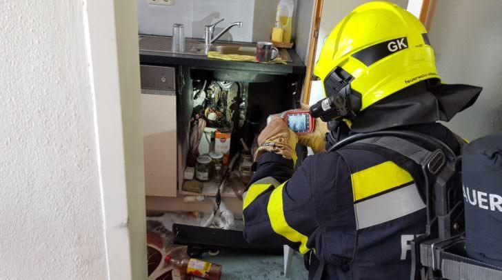 Nachkontrolle mittels Wärmebildkamera.