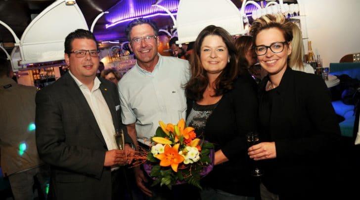 Stadtrat Christian Pober, die Chefs Martin und Karin Melcher  und Stadträtin Katharina Spanring