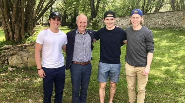 Villacher Nachwuchs: Philipp Wohlfahrt, Alexander Schmidt und Benjamin Lanzinger