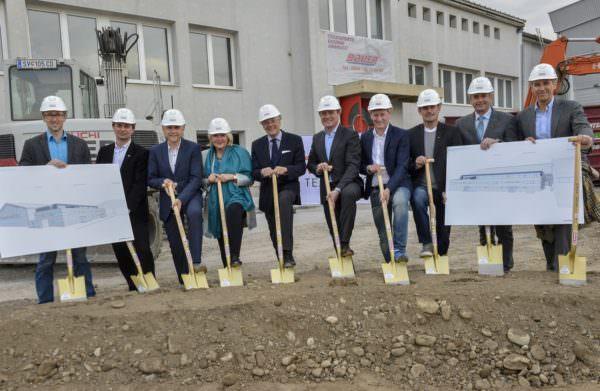Offizieller Baubeginn des Kabinengebäudes bei der Stadthalle Klagenfurt