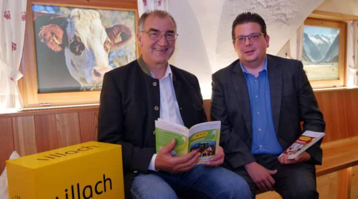 Marktreferent Stadtrat Christian Pober und Stiegerhof-Direktor Dipl.-Ing. Johannes Leitner.