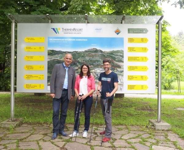 Von links: Regions-Geschäftsführer Georg Overs, Landesrätin Mag.a Sara Schaar, Naturpark-Geschäftsführer Mag. Robert Heuberger