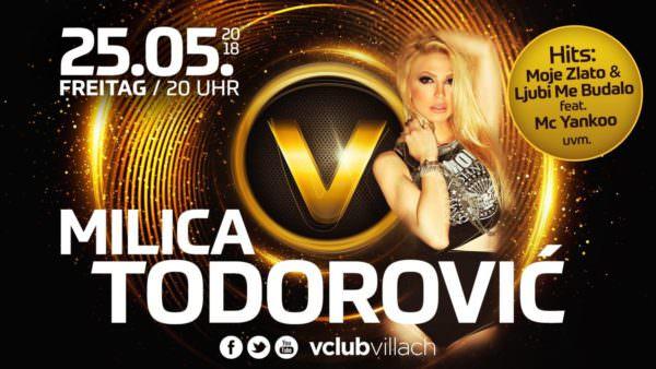 Freitag, 25. Mai: Milica Todorovic LIVE mit Band im V-Club Villach