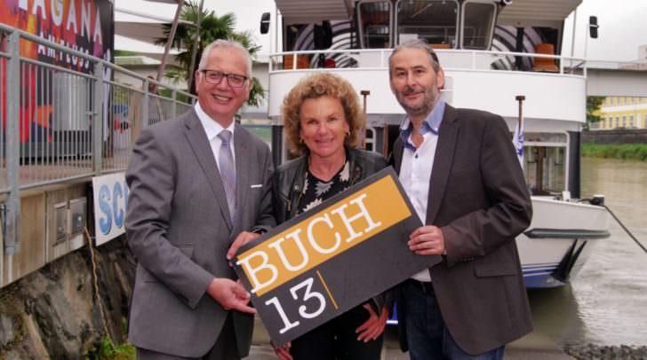 Landtagspräsident Reinhart Rohr und Notarin Dr. Claudia Stern feierten mit Gründer Gerald Eschenauer 5 Jahre BUCH13.