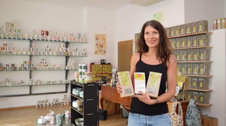 """Daniela Koppitsch –  Inhaberin des entzückenden Teegeschäftes """"Teapot"""" jetzt neu in der Gerbergasse."""