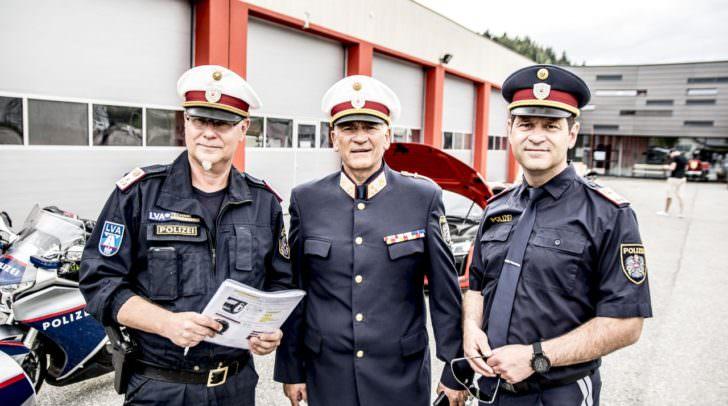 Chefinspektor Nobert Rohseano, Chefinspektor Horst Binder und Bezirksinspektor Mario Nemetz
