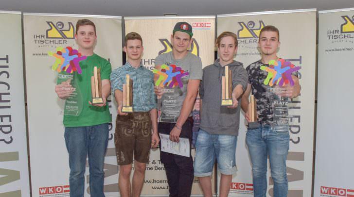 Sieger unter sich: Walter Endt, Kevin Jürgen Saiti, Rene Schwenner, Manuel Keuschnig und Matthias Guggenberger