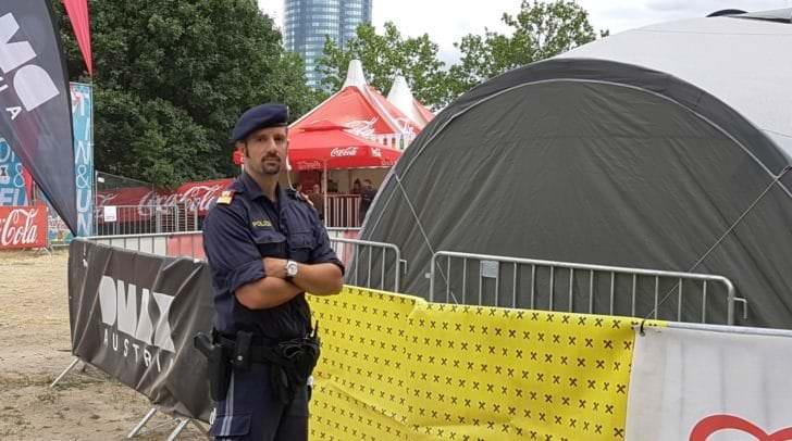 Stephan Brozek, Leiter des Stadtpolizeikommandos Villach, im Einsatz auf der