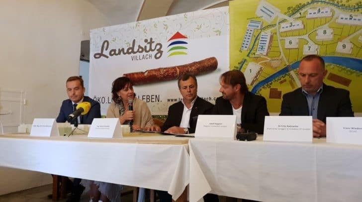 Pressekonferenz zum Bauabschluss des Landsitzes Villach