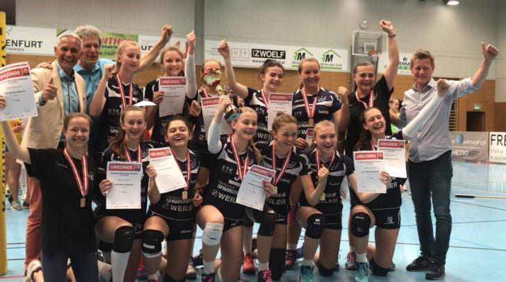 Die U15 ATSC Wildcats Klagenfurt freuen sich über den ÖM-Titel, den sie in Viktring gewinnen konnten