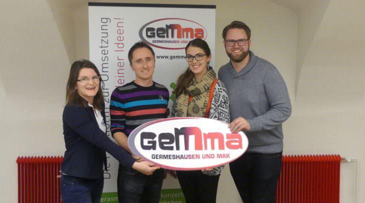 Der Vorstand des Vereins GEMMA vl: Birgit Kandutsch, Stefan Mak, Eva Kobin und Marc Germeshausen